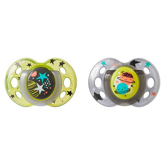 Пустышка Tommee Tippee Night Time Soother 18-36мес. 2 шт.